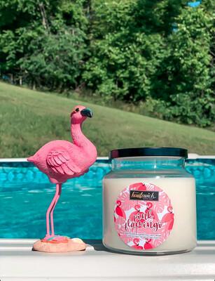 Pink Flamingo 16oz Candle
