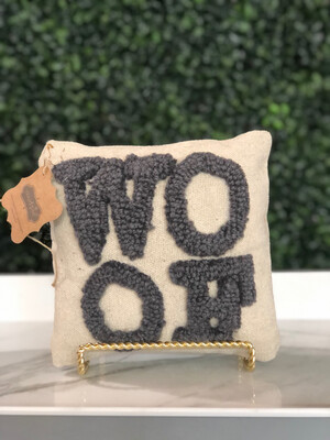 Woof French Knot Pillow