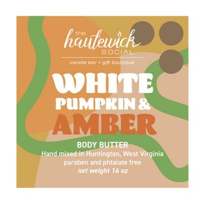 White Pumpkin Amber 16oz Body Butter