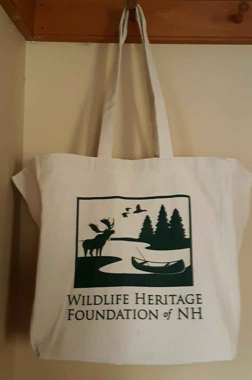 Wildlife Heritage Foundation of NH Canvas Bag - Flat bottom