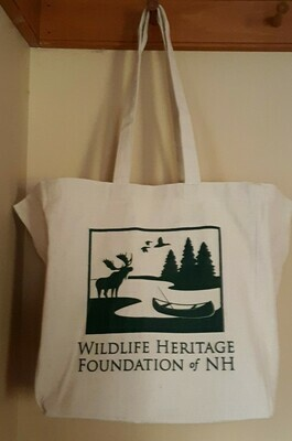 Wildlife Heritage Foundation of NH Canvas Bag - Flat bottom