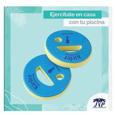 Discos de mano para ejercicios acuáticos (PAR). Precio sin ISV.