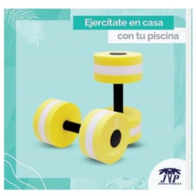 Mancuernas para ejercicios acuaticos (PAR). Precio sin ISV.