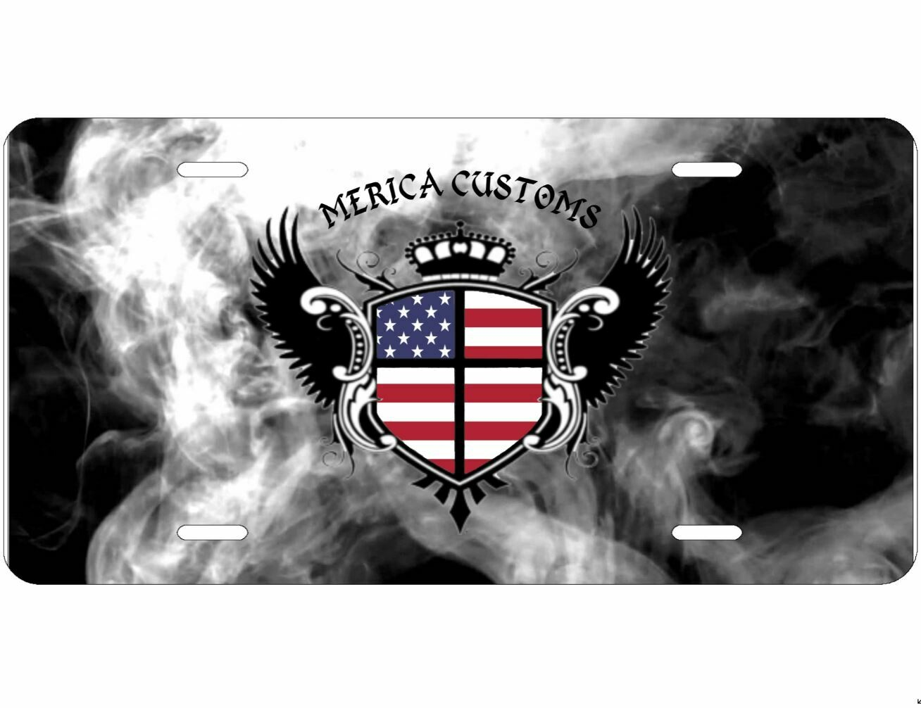 Merica Customs Decorative licence plate