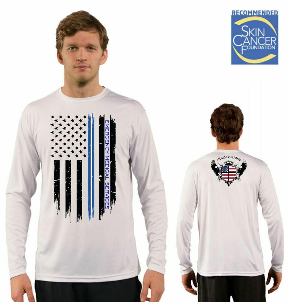Men's EMS Support Flag Sublimation Vapor Solar Tee - Long Sleeve