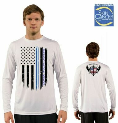 Men's EMS Support Flag Sublimation Vapor Solar Tee - Long Sleeve