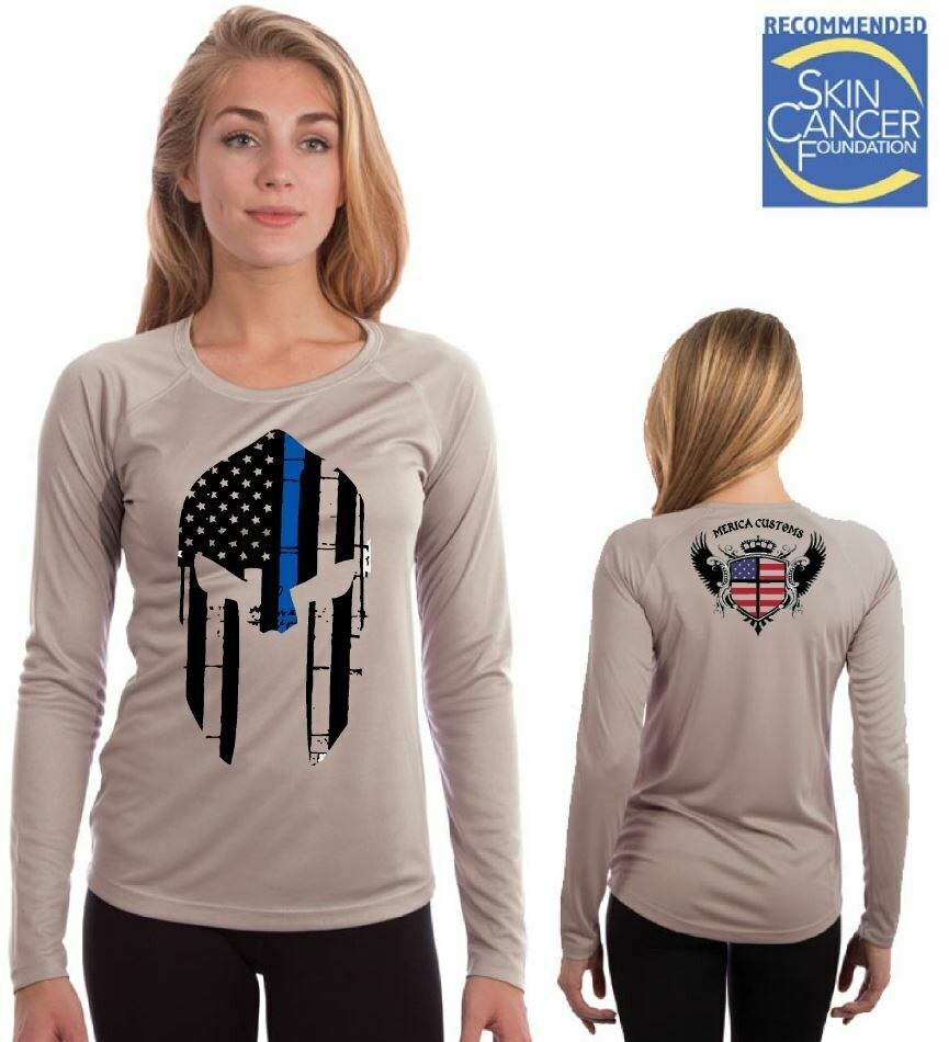 Spartan Police Support (Ladies Sublimation Vapor Solar Tee - Long Sleeve)