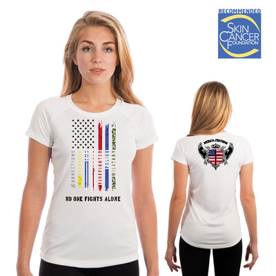 Support all The Thin Lines -(Vapor Ladies Short Sleeve Tee)