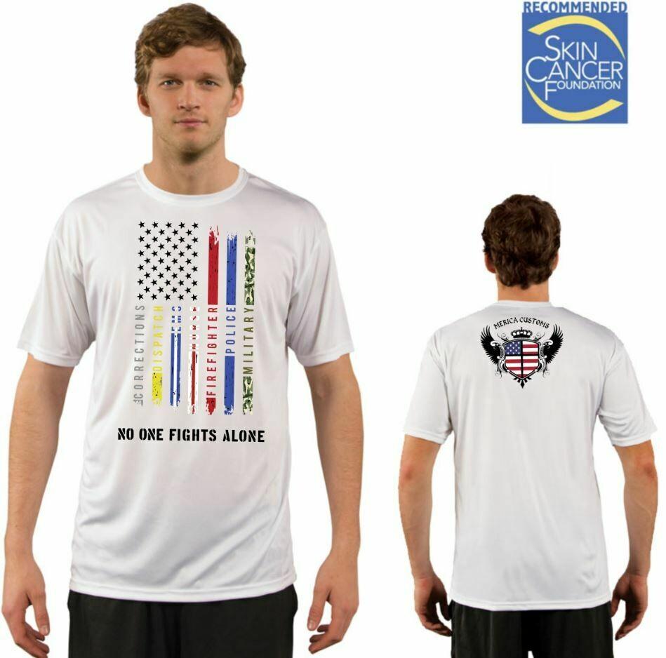 Men's All Lines Support Flag Sublimation Vapor Solar Tee - Short Sleeve