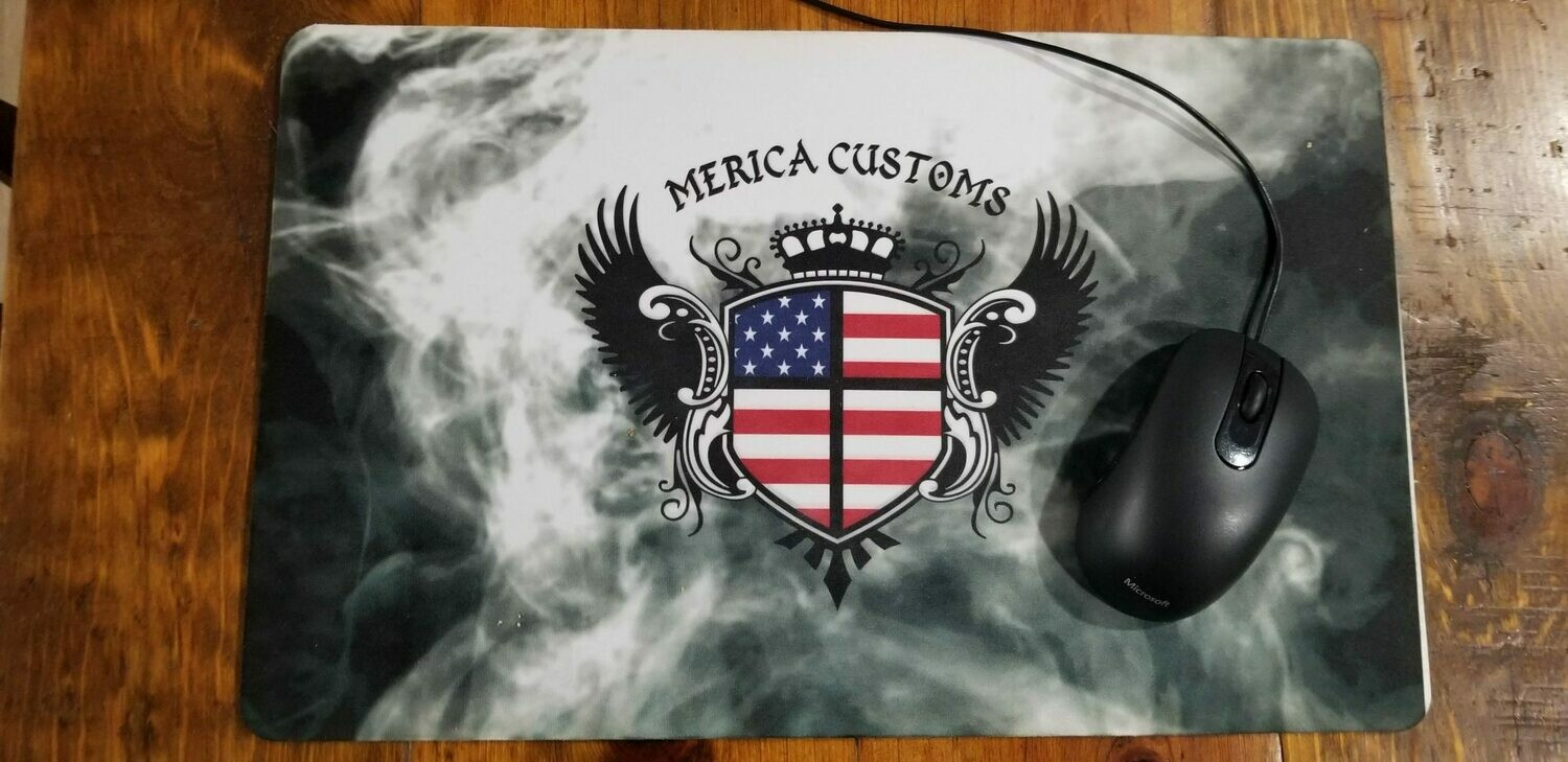 Large Merica Customs Mouse Pad/Counter Mat