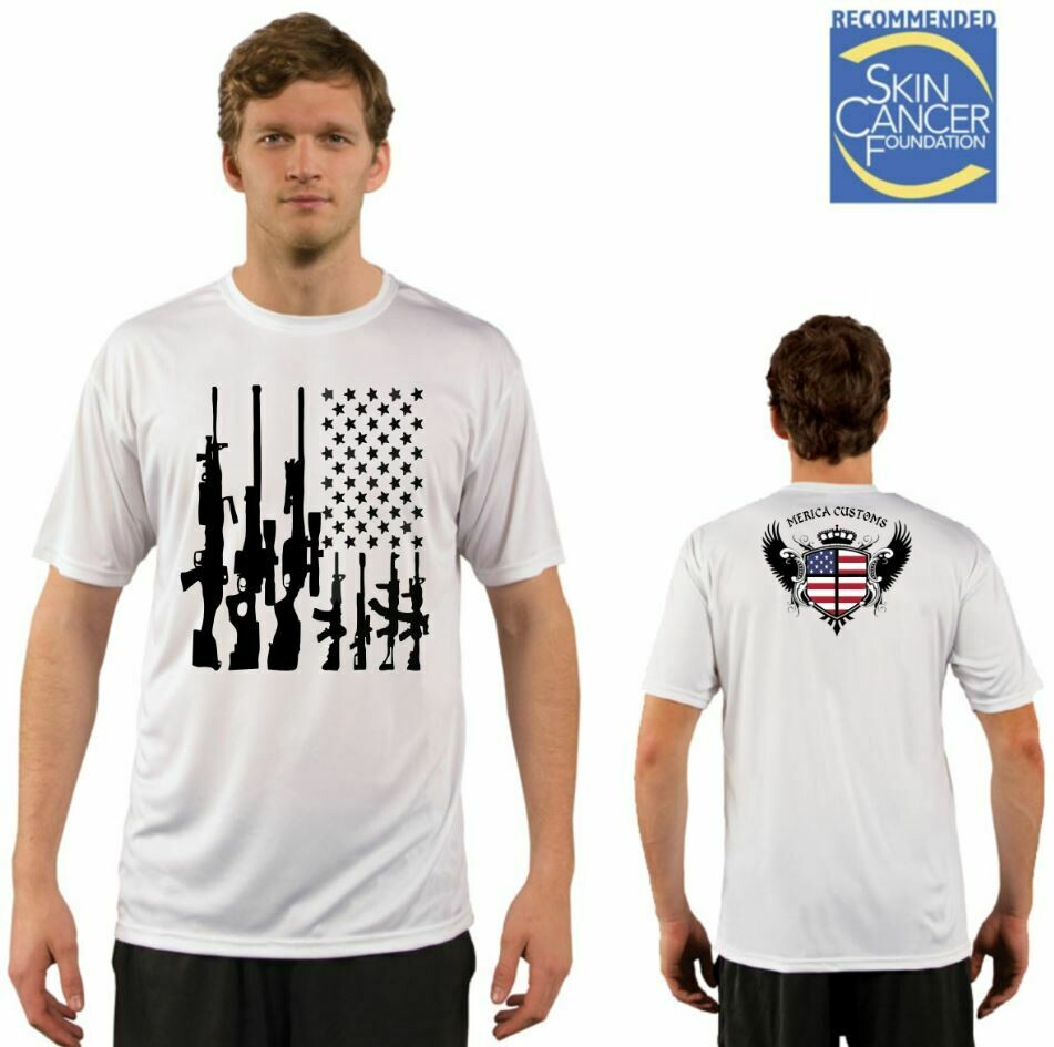 Men's American Gun Flag Tee - Short Sleeve