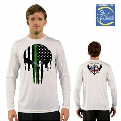 Men's Military Punisher Appreciation Flag Sublimation Vapor Solar Tee