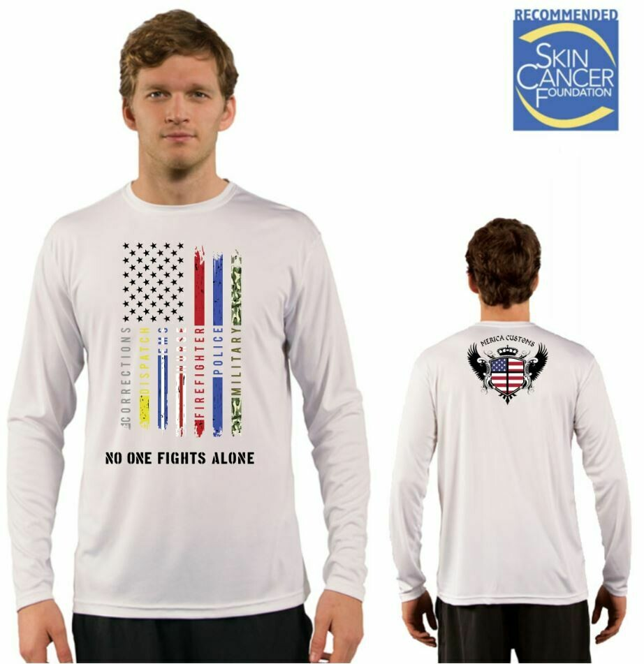 Men's All Lines Support Flag Sublimation Vapor Solar Tee - Long Sleeve