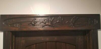 Engraved Decorative over the Door Trim