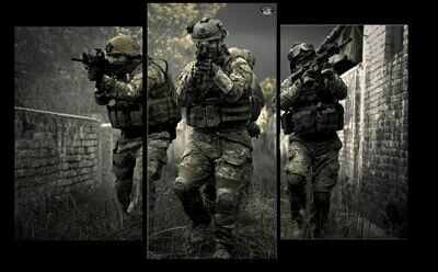 3 Panel American Defenders Wall Art