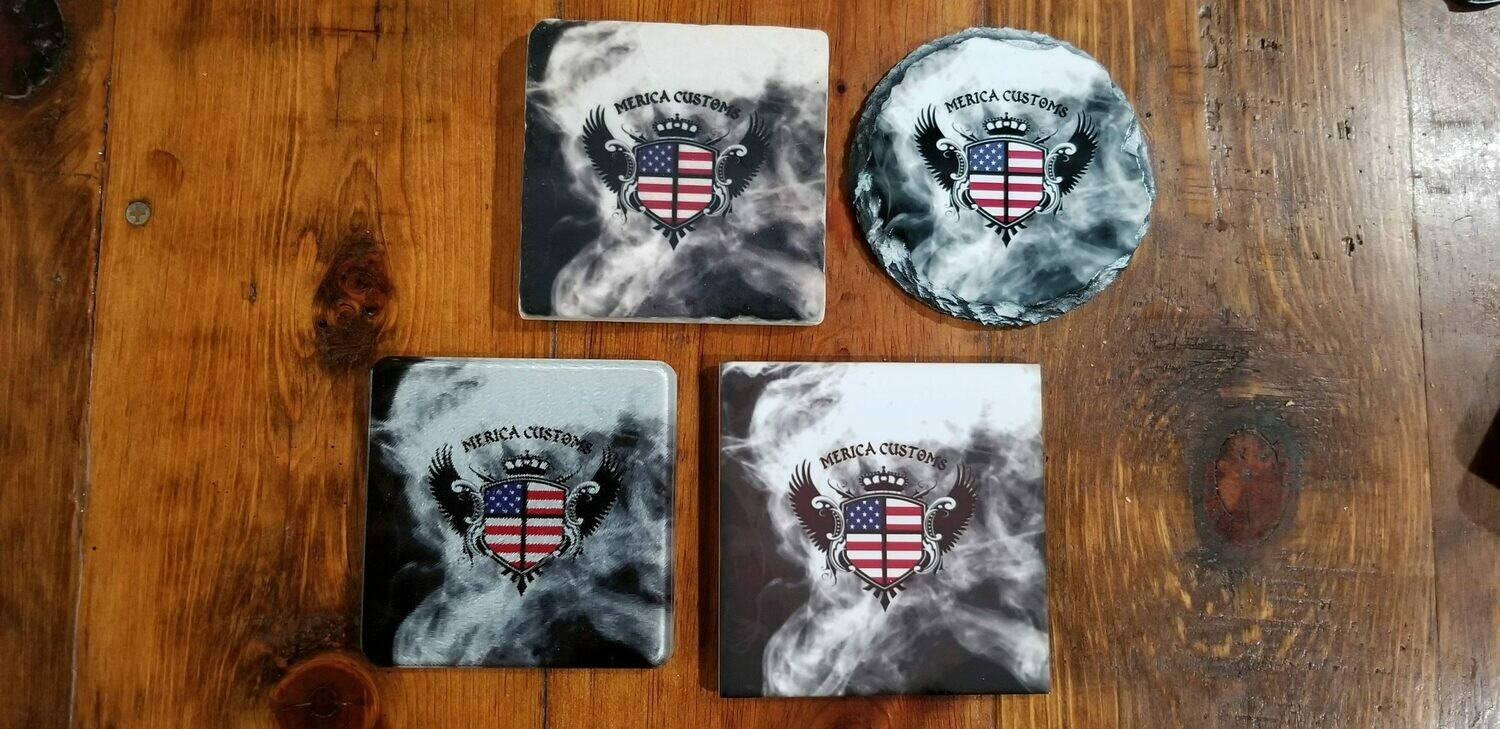 Custom Drink Coasters From Merica Customs