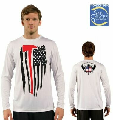 Men's Firefighter Appreciation Flag Sublimation Vapor Solar Tee - Long Sleeve