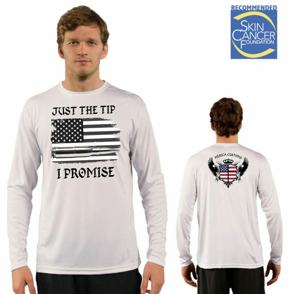 Men's Just The Tip I Promise Flag Sublimation Vapor Solar Tee - Long Sleeve