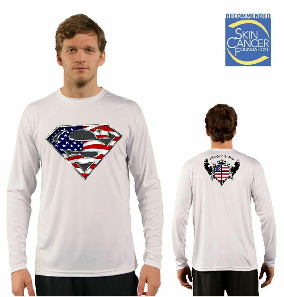 Mens American Hero Sublimation Vapor Solar Tee - Long Sleeve