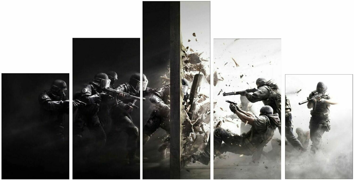 5-Panel Breaching Wall Art