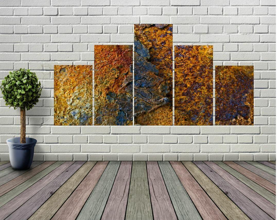 Amazing (5-Panel) Rust Photo Panel Wall Art