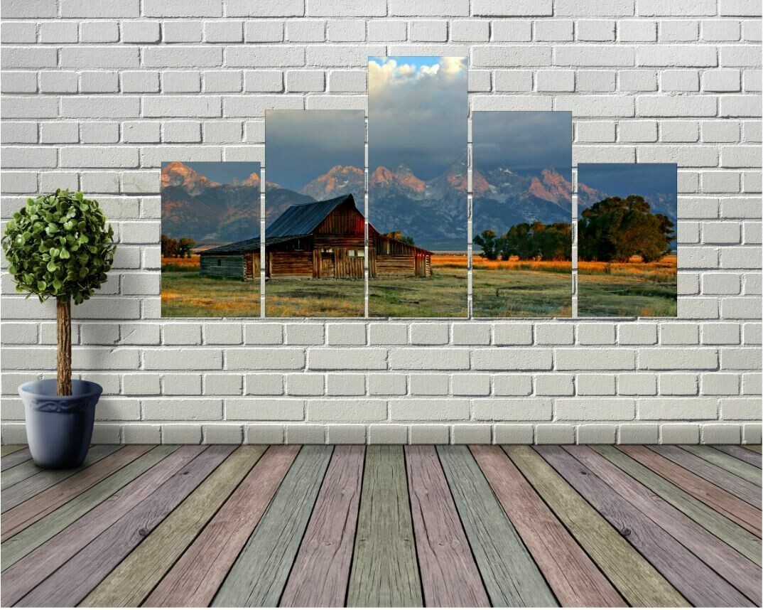 Mountainside Ranch 5 panel Wall Art