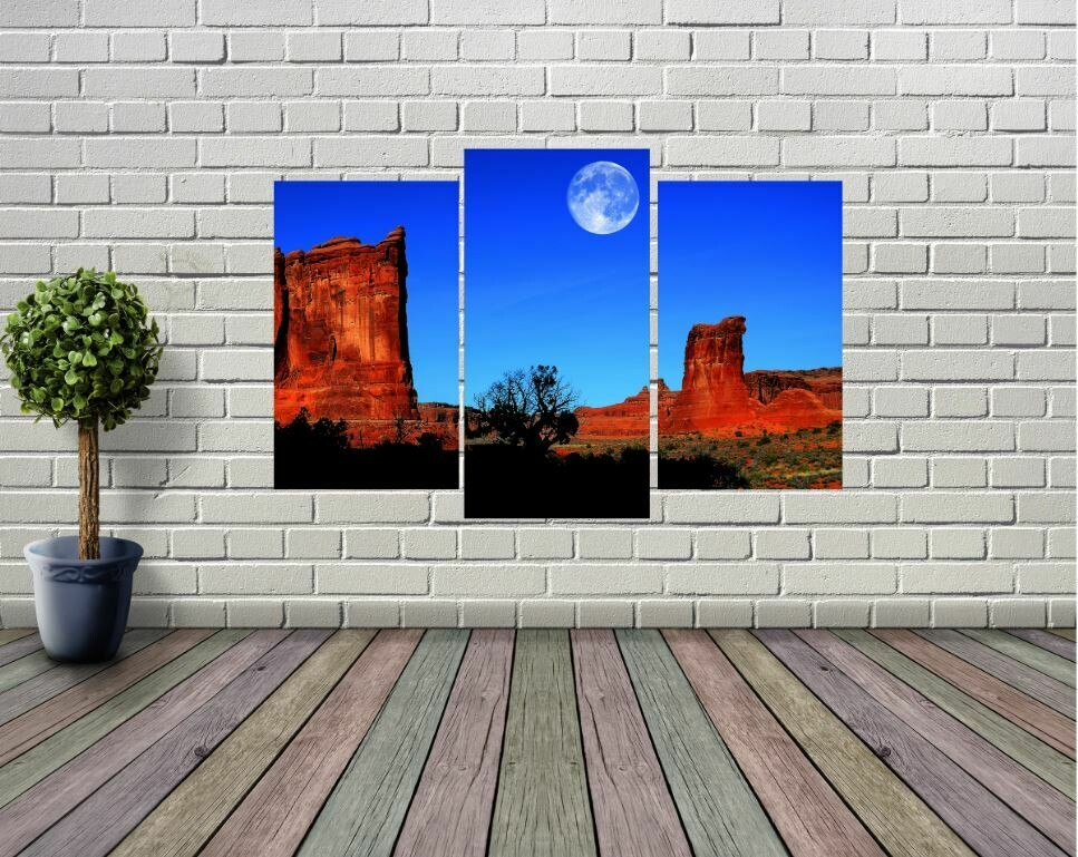 Sedona Arizona Desert Moon Panel Wall Art