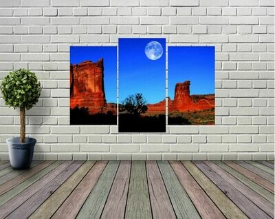 Sedona Arizona Desert Moon Panel Wall Art