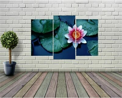 High Definition Lily Pad Panel Wall Art