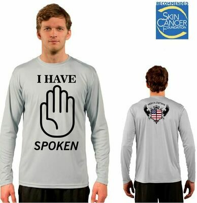 Men's 'I Have Spoken' - Sublimation Vapor Solar Tee - Long Sleeve