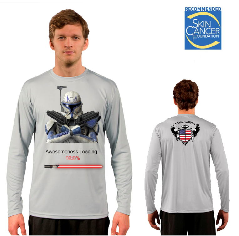 Men's 'Commander Awesomeness' Sublimation Vapor Solar Tee - Long Sleeve