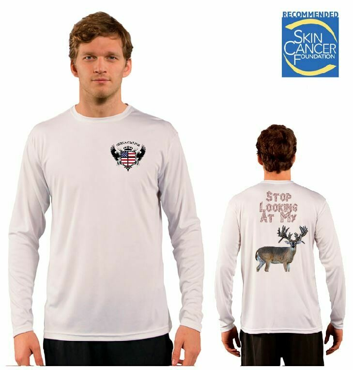 Stop Looking At My Buck Sublimation Vapor Solar Tee - Long Sleeve
