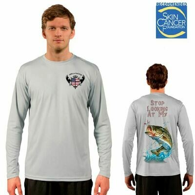Stop Looking At My Bass Sublimation Vapor Solar Tee - Long Sleeve