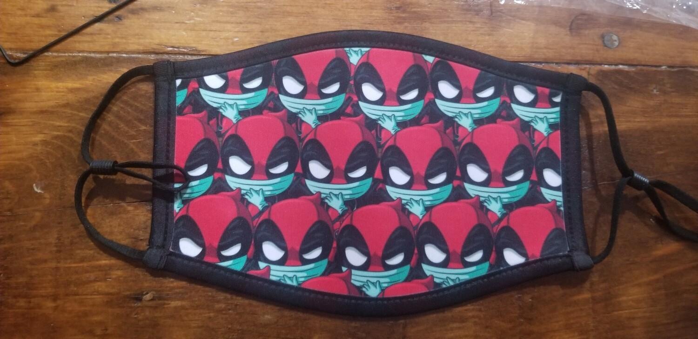 Deadpool Chibi Face Masks