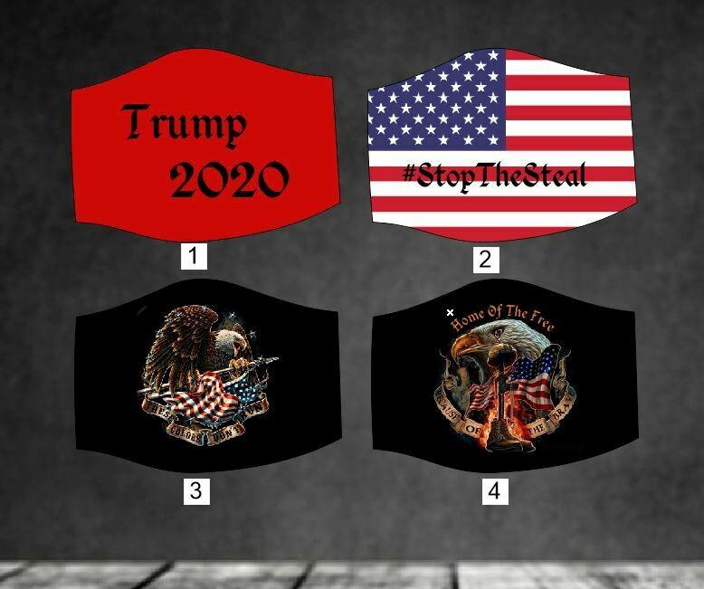 American & President Trump 2020 Face Mask