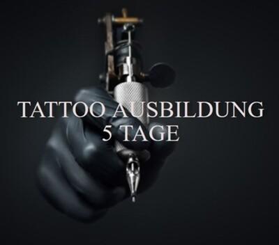Tattoo Ausbildung im Studio, inklusive Tattooset! Anzahlung.