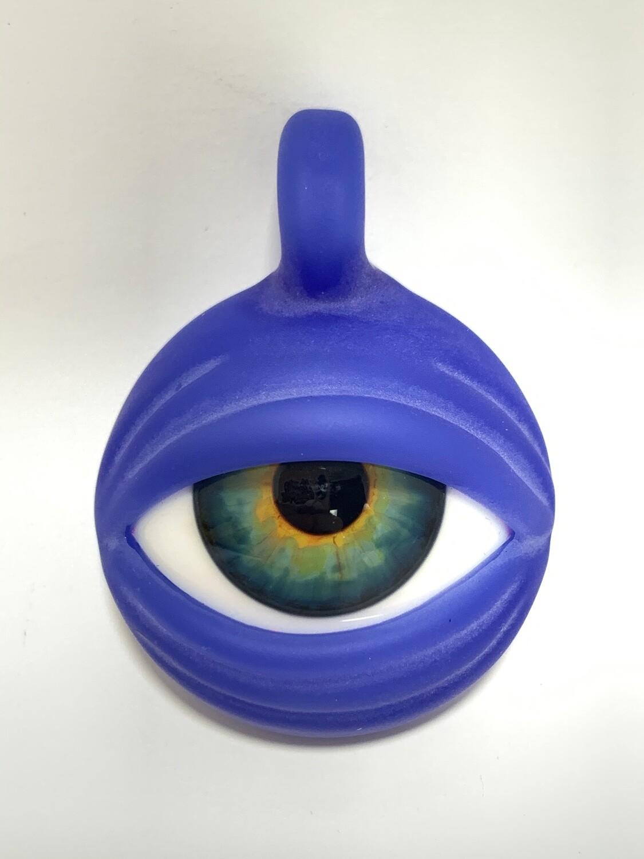 Ryan Fitt Eye Pendant Custom Blue