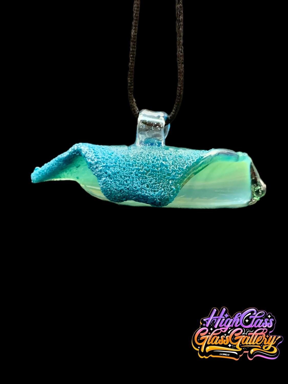 Black Sand Glass Pendant #3