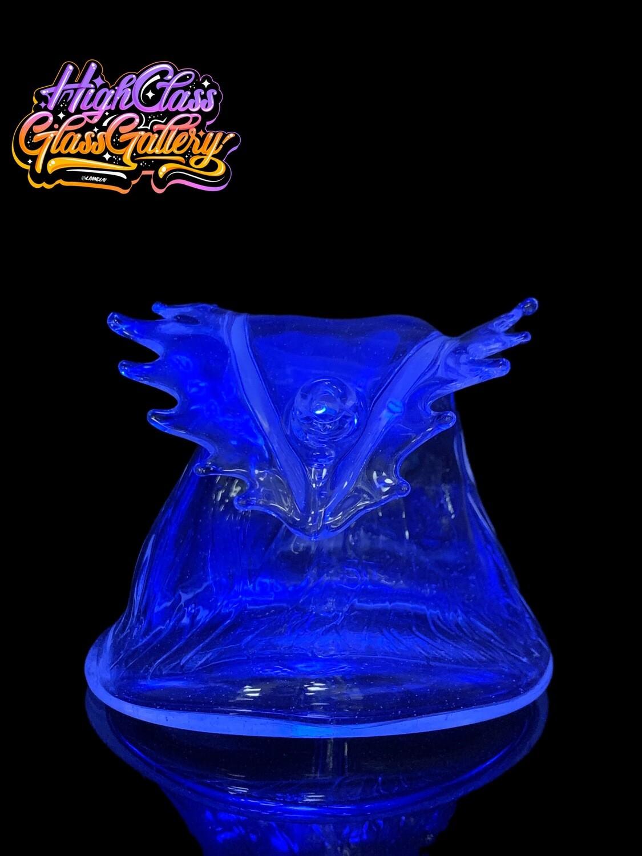 Black Sand Glass Bioluminescent Wave