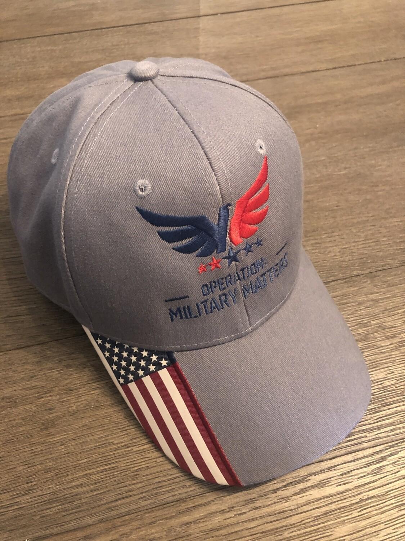 Black hat US flag on side/ Gray Hat US Flag on rim