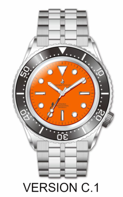 Prometheus Zenobia Orange Dial Version C1 No Date (non refundable deposit)
