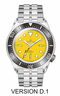 Prometheus Zenobia Yellow Dial Version D1 No Date (non refundable deposit)