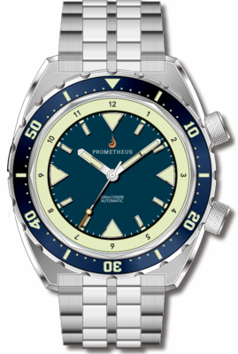 Pre-Order Prometheus Eagle Ray Version 5B.1 ETA 2824 Blue Dial No Date C3X1 Superluminova