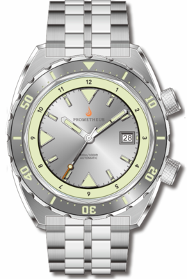 Pre-Order Prometheus Eagle Ray Version 5C ETA 2824 Silver Dial Date C3X1 Superluminova