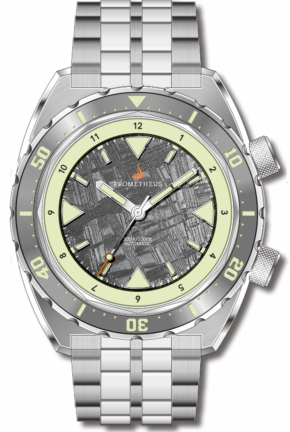 Pre-Order Prometheus Eagle Ray Version 5E1 ETA 2824 Meteorite Dial No Date C3X1 Superluminova