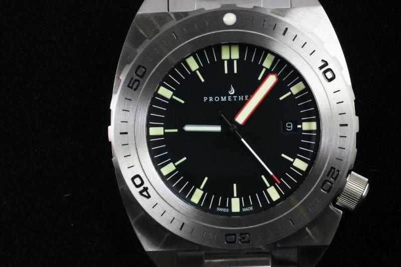 Swiss Made Prometheus Manta Ray Men's Diver Watch Black Dial 1U