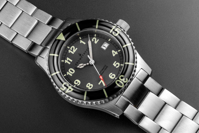 Prometheus Sailfish 300m Automatic Diver Watch Grey Dial Sapphire Bezel