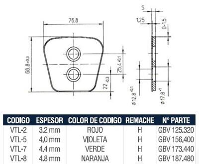 Pastilla Cerámica VTL5