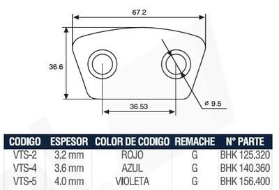 Pastilla Cerámica VTS4