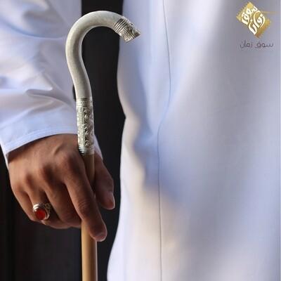 عصا عمانية فضة
